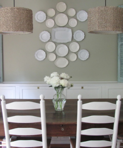 decorating a kitchen on a budget with old dishes